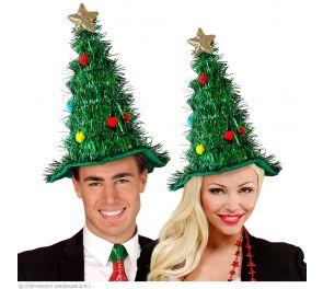 Kiiltäväpintainen joulukuusi-hattu