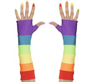 Rainbow-satiinikäsineet