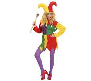 Värikäs naamiaisasu sirkus-tyyliin