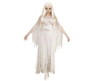 Ghostly Spirit – pitkä mekko, valkoinen/hopeanharmaa