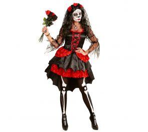 Halloween-naamiaisasu aikuisille - Dia De Los Muertos