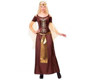 Viikinki-naiselle pitkä mekko sekä päähine