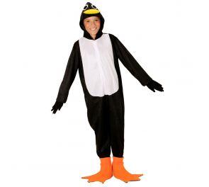 Musta-valkoinen pingviini-haalari lapsille