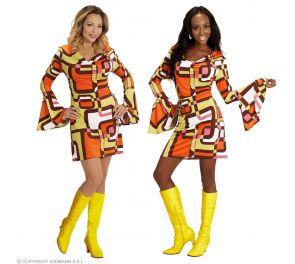 Leveähihainen 70-luvun mekko aikuisille