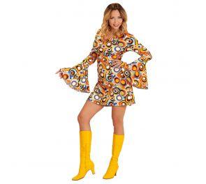 Värikäs groovy-mekko aikuisille