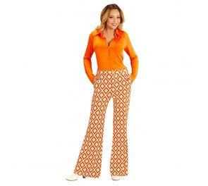 70-luvun värikkäät housut naisille