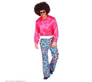 70-luvun värikkäät housut miehille