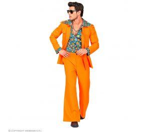 70-luvun housut ja takki paidalla
