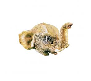 Kumista valmistettu norsu-naamari