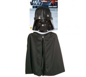 Aito Darth Vader -lisenssisetti lapsille sisältäen kypärän ja viitan
