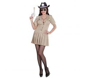 Beige sheriffi-mekko aikuiselle
