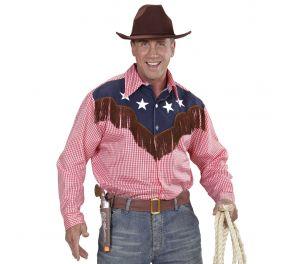 Ruudullinen cowboy-paita hapsuilla