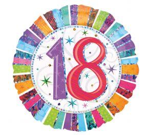 Syntymäpäivä foliopallo 18