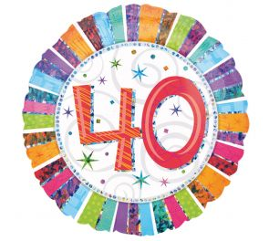 Syntymäpäivä foliopallo 40