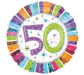 Syntymäpäivä foliopallo 50, sopii myös kultahääpäiväjuhlaan