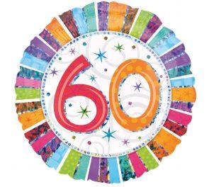 Syntymäpäivä foliopallo 60