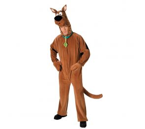 Ruskea haalarimallinen Scooby Doo -asu aikuisille
