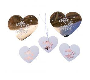 Mr & Mrs -sydänsomisteet, 5 kpl