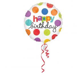 Happy Birthday -foliopallo, polka dot