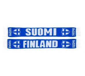 Sinivalkoinen Suomi-kaulaliina