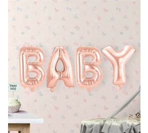 Foliopallosetti BABY, Baby Shower-juhliin sopiva koriste :)