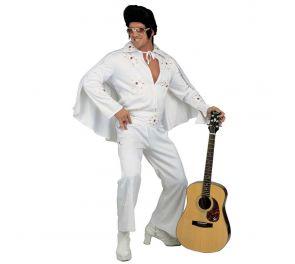 Valkoinen Elvis-asu lyhyellä viitalla