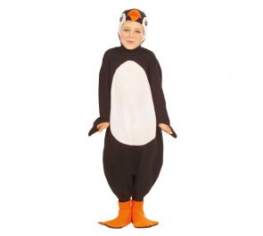 Pehmeä pingviini-haalari lapsille