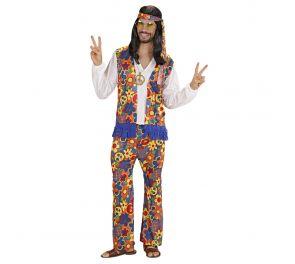 Värikäs hippimies-naamiaisasu