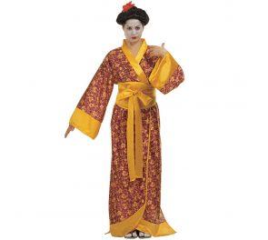 Koristekuvioinen kimono geishalle