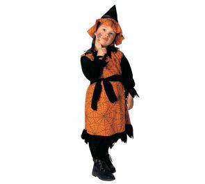 Musta-oranssi noita-naamiaisasu lapsille