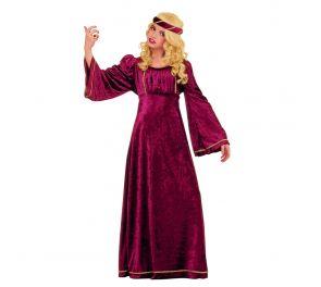 Punainen linnanneidon-mekko lapsille