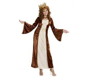 Ruskea velour-mekko sopii vaikka kuningattarelle
