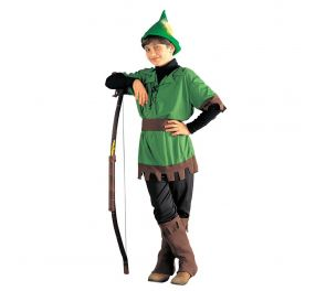 Vihreä Robin Hood -naamiaisasu lapsille