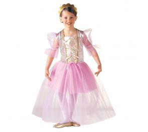 Vaaleanpunainen ballerinan mekko sopii myös pienille prinsessoille