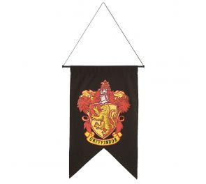 Rohkelikko-vaakunalla koristeltu musta seinälippu