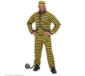 Musta-keltainen vangin asukokonaisuus aikuisille