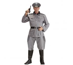 Harmaa sotilas-uniformu aikuiselle