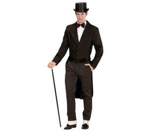 Musta pitkä takki herrasmiehille