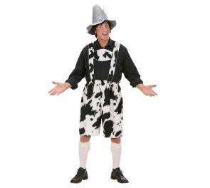 Lederhosen-polvihousut lehmäkuviolla