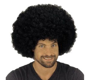 Superafro-peruukki, musta