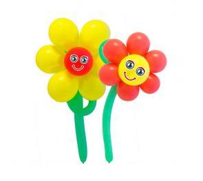 DIY-ilmapallosetti, kukkaset