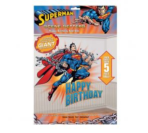 Superman-seinäjuliste syntymäpäivä sankarille!