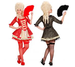 Barokki-mekko, alushame ja verkkosukat aikuisille