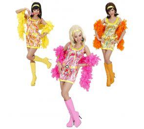 70-luvun värikäs disco-mekko aikuisille