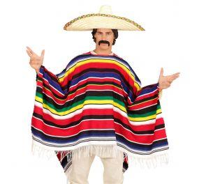 Meksikolainen poncho-asu aikuisille