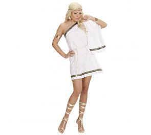Valkoinen kreikkalaisen jumalattaren asu aikuisille