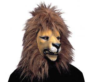 Leijona-naamari harjalla
