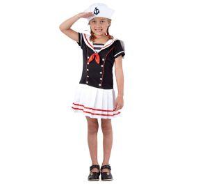 Seilori-mekko ja merimieslakki lapsille