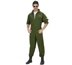 Vihreä hävittäjälentäjän-haalari aikuisille
