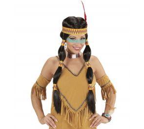 Cherokee-lettiperuukki intiaaninaiselle tai -miehelle